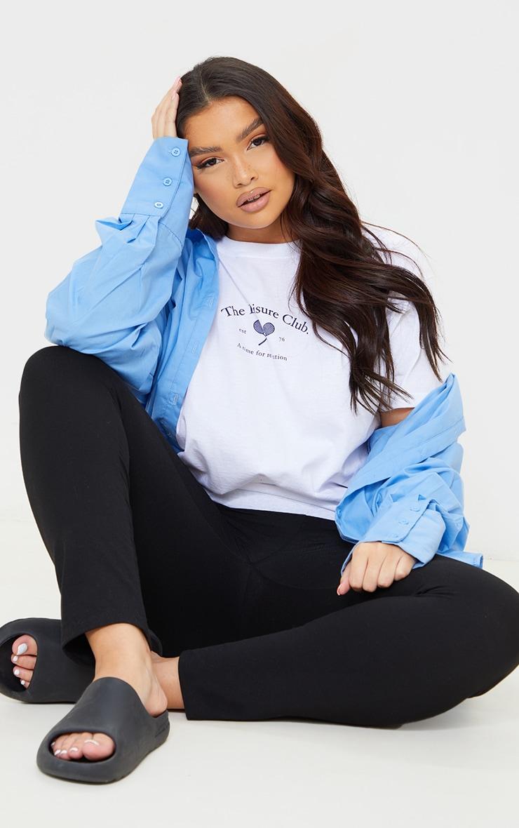 Plus White Leisure Club T Shirt 3