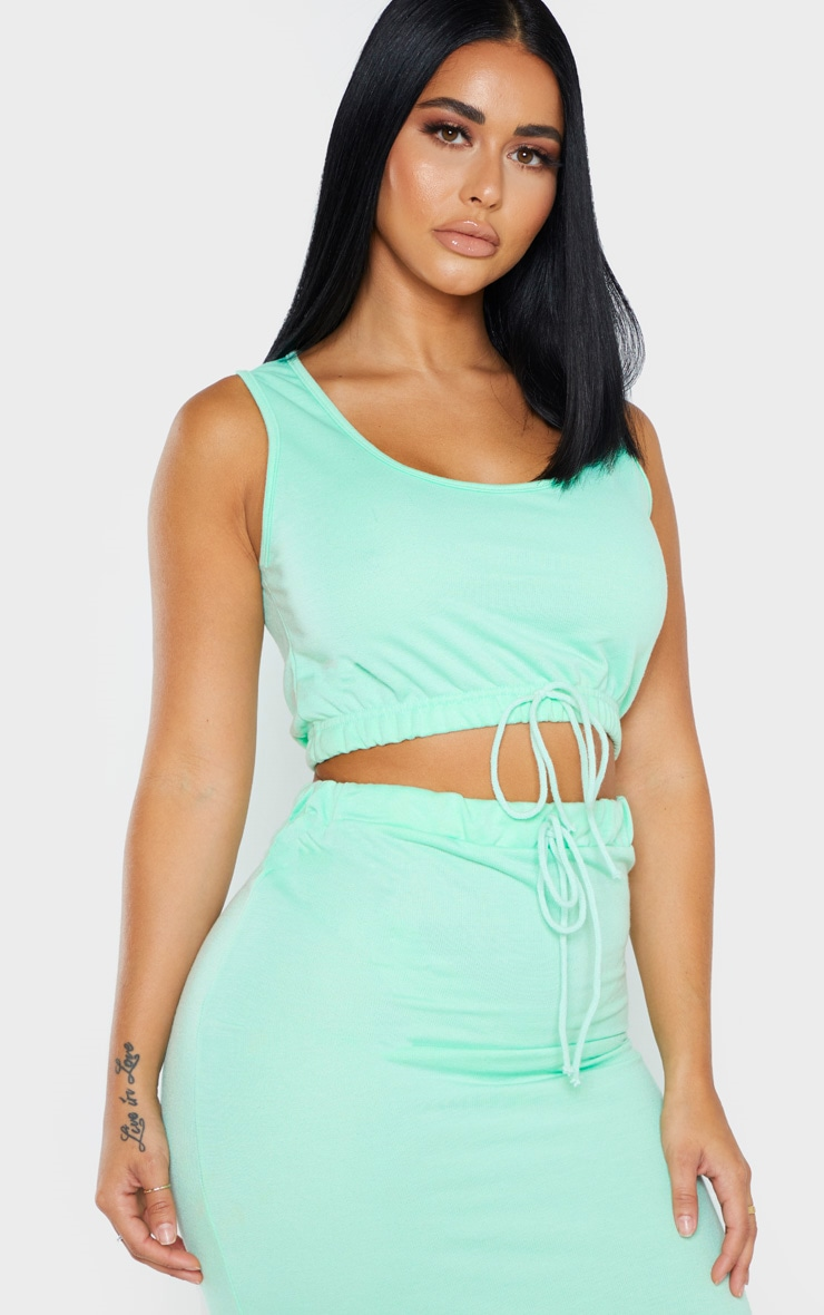 Shape Mint Sweat Sleeveless Crop Top 1