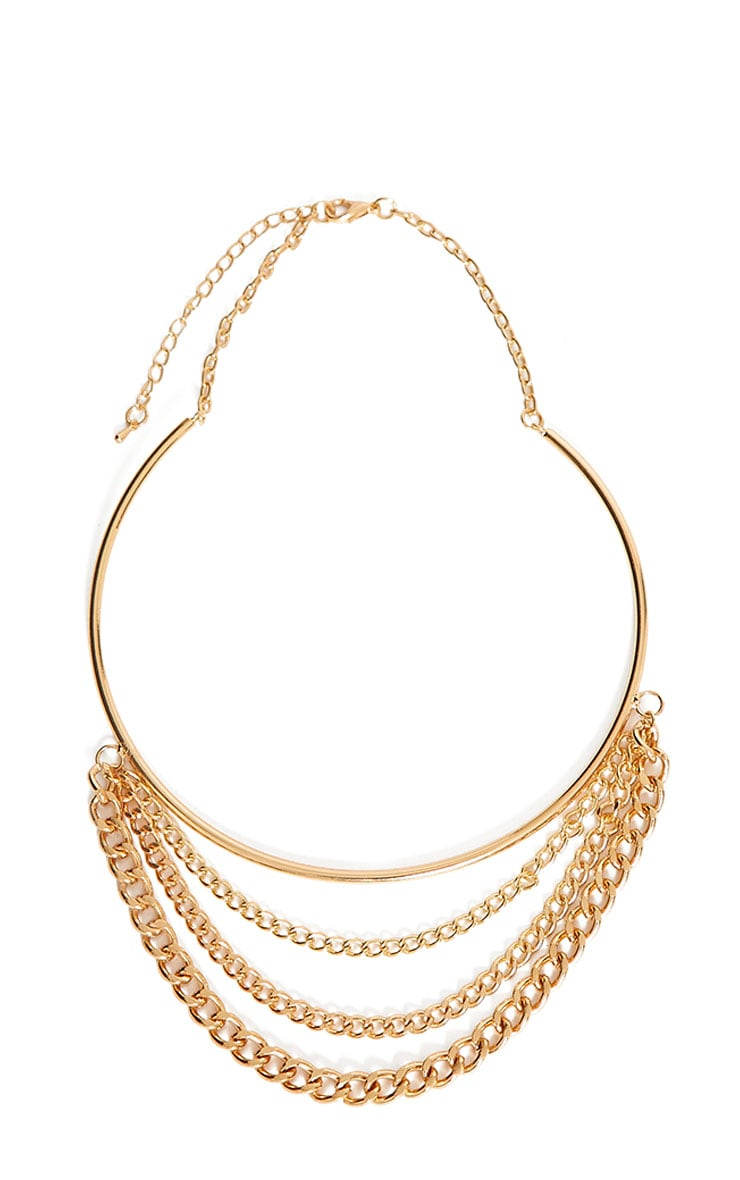 Ferna Gold Layered Chain Choker 3