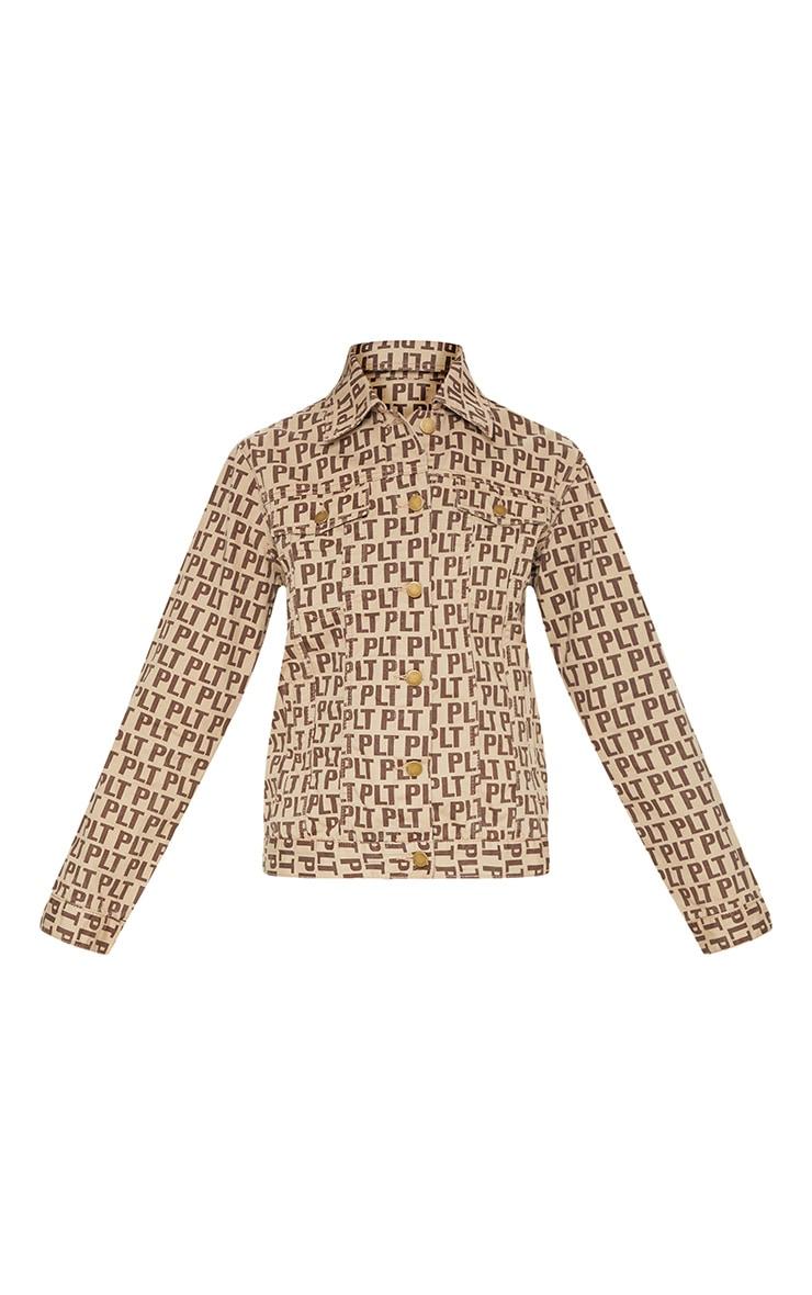 PRETTYLITTLETHING Brown Denim Jacket 3