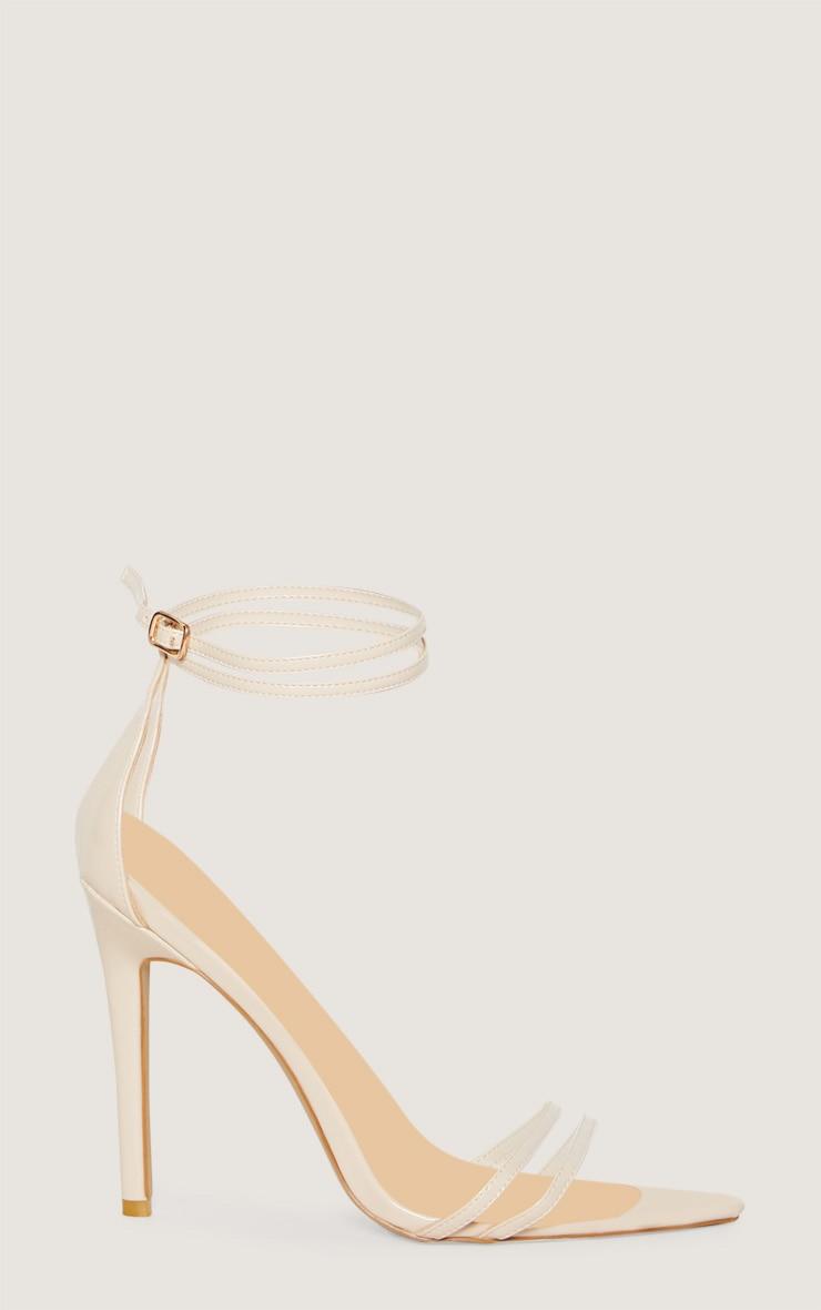 Sandales pointues nude très discrètes 3