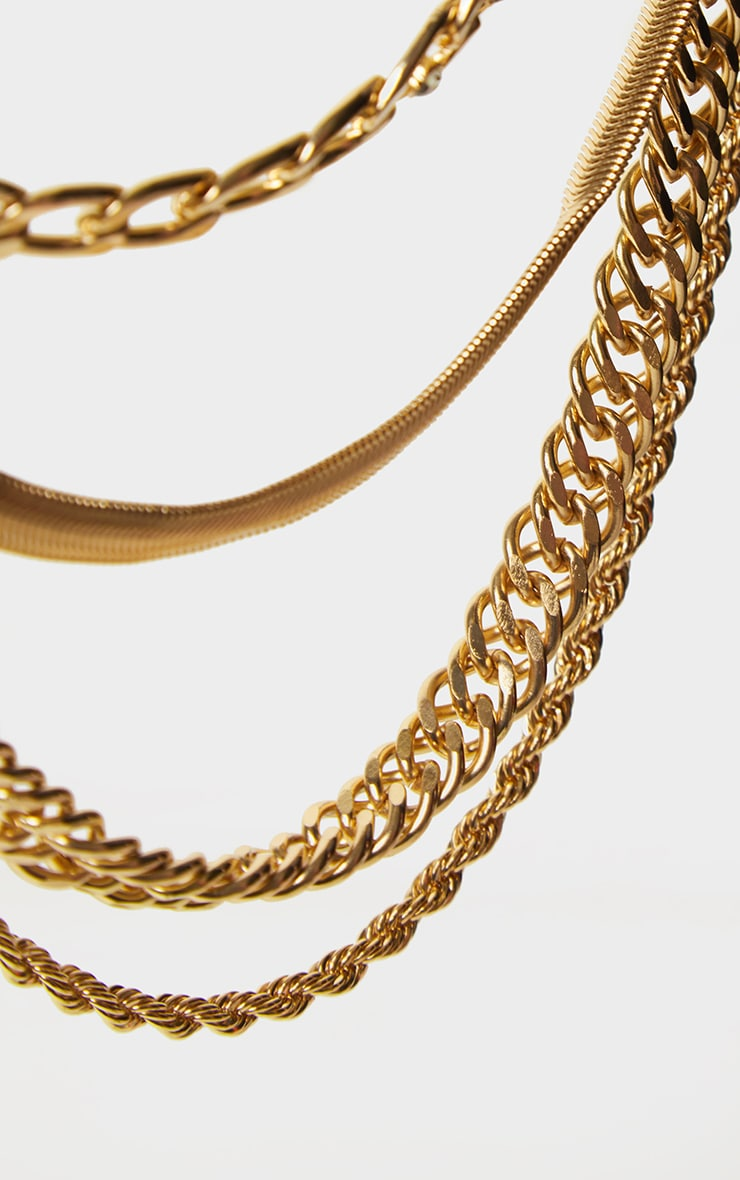 Gold Multi Assorted Layering Necklaces 4