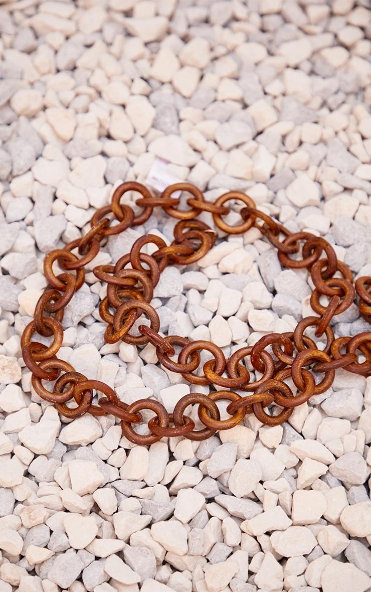 Brown Wooden Hoop Chain Belt 2