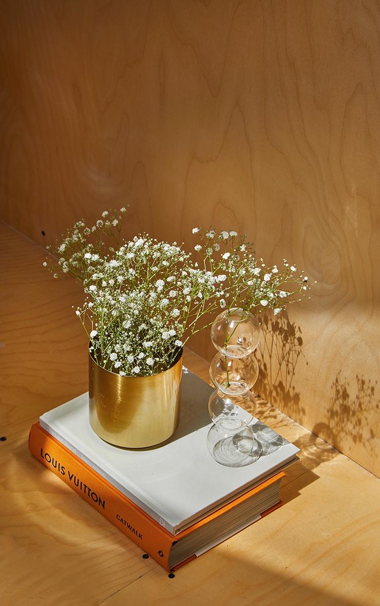 Gold Round Metal Vase 2