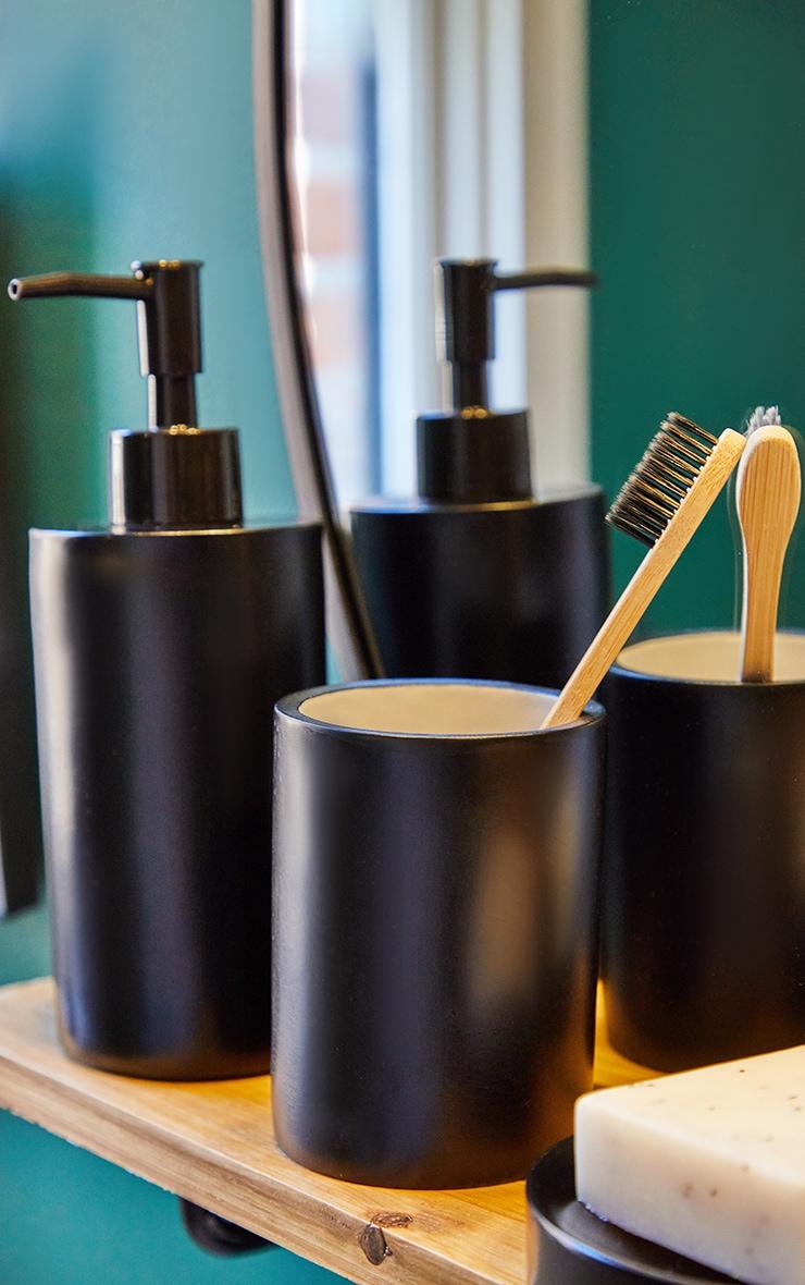 Matte Black 3 Piece Bathroom Soap Set 2