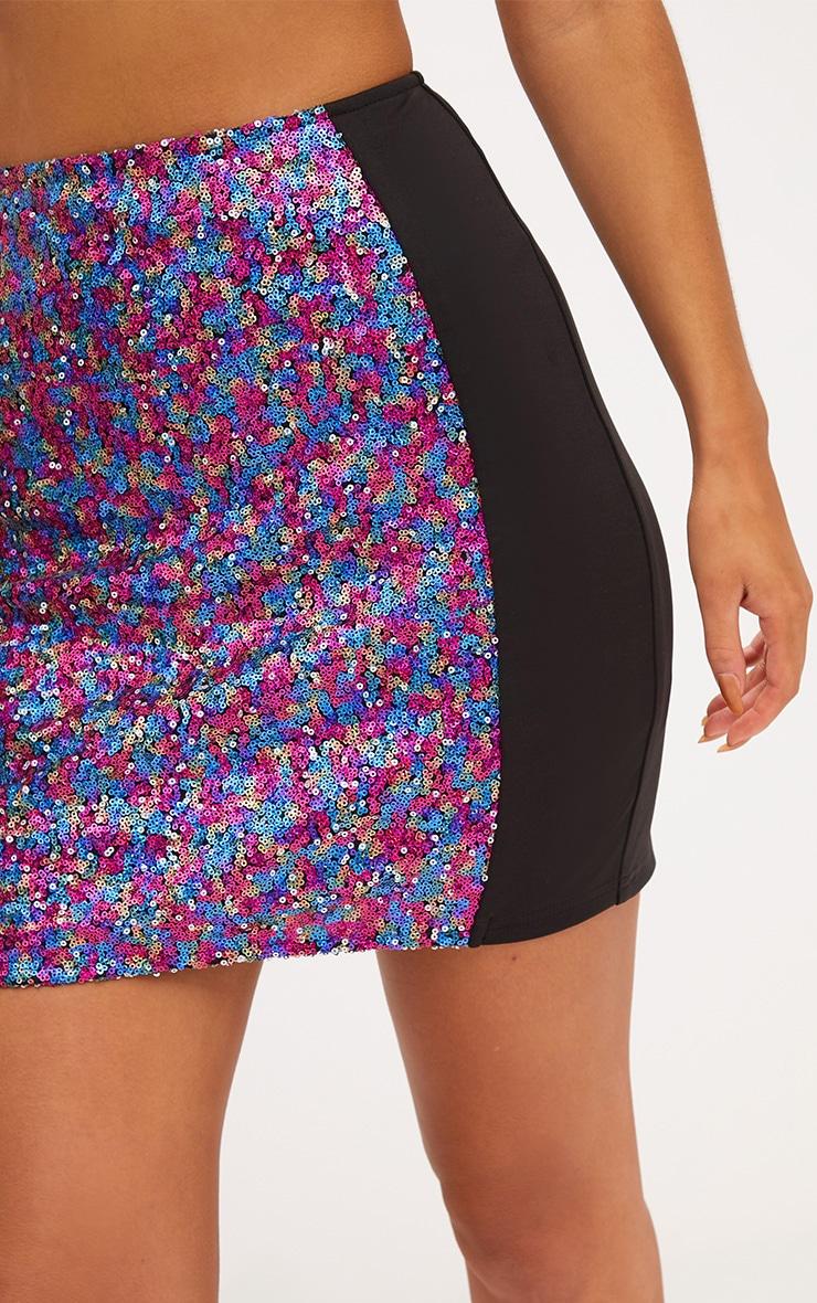 Black Sequin Panel Skirt 6