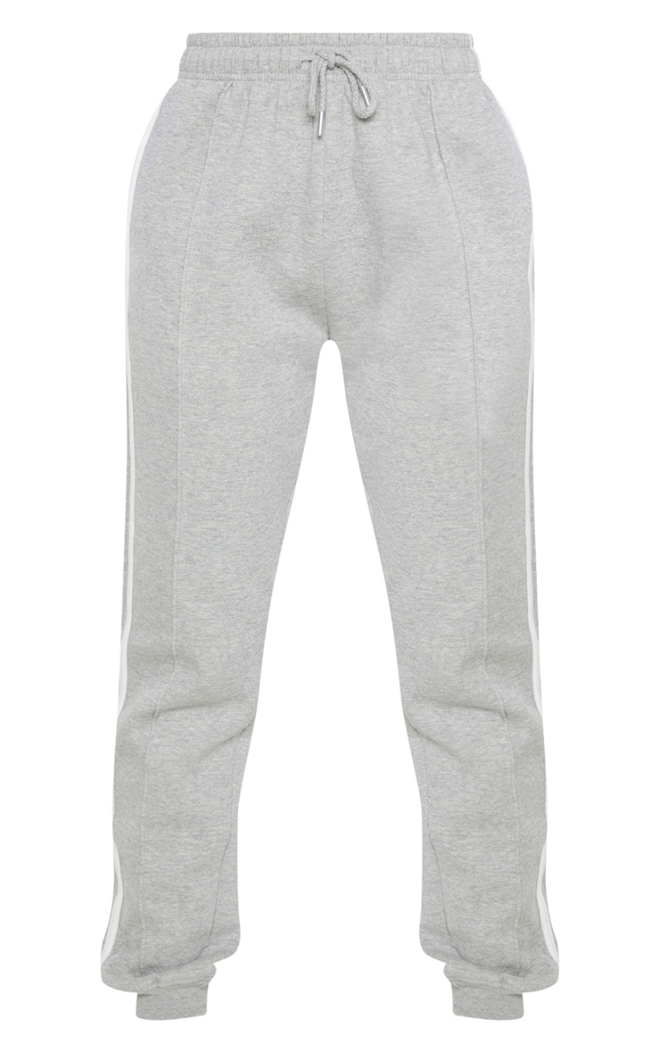 Tall Grey Double Side Stripe Jogger  3