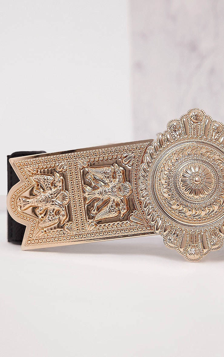 Herra Gold Ornate Buckle Waist Belt 5