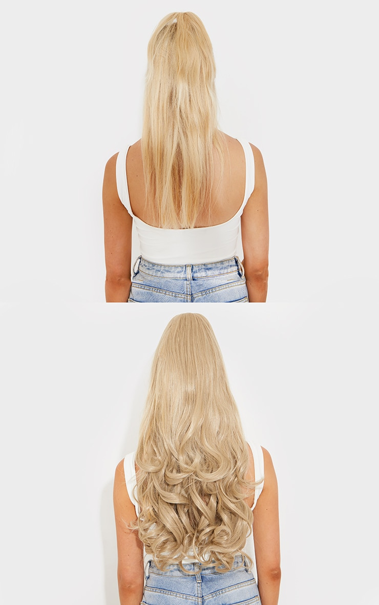 Lullabellz Ultimate Half Up Half Down 22 Curly Extension and Pony Set Light Golden Blonde 4