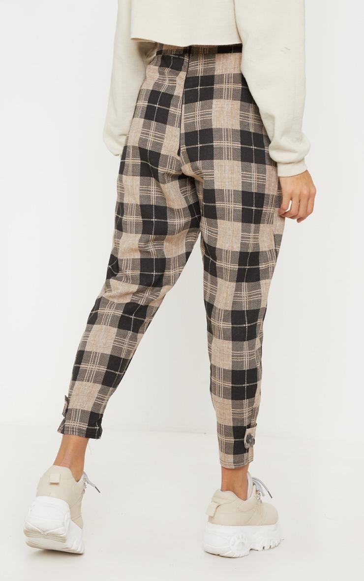 Monochrome Check Peg Leg Pants 4