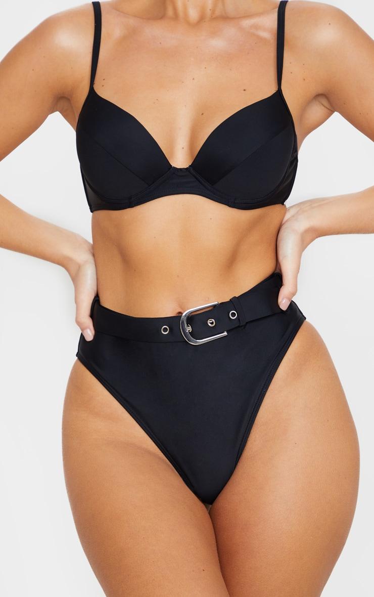 Black Push Up Cupped Bikini Top 5