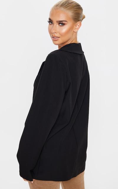 Black Oversized Shoulder Padded Blazer
