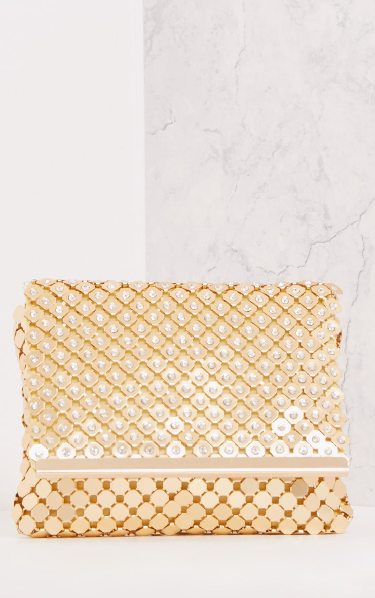 Jolee Gold Chainmail Clutch 2