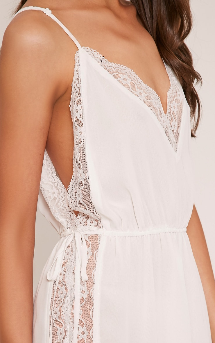 Shiela White Lace Insert Playsuit 6