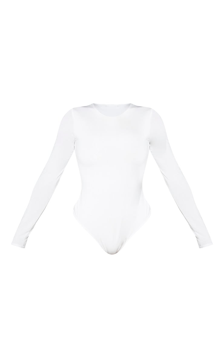 Shape White Long Sleeve Slinky Bodysuit  5