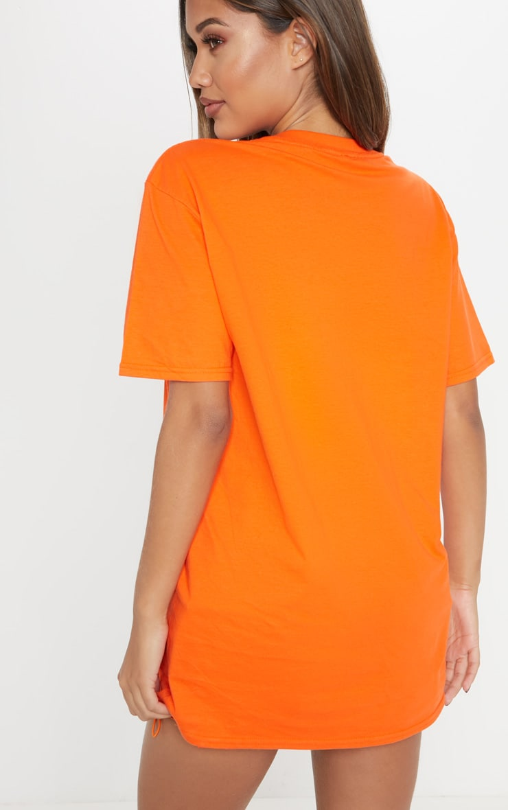 Orange Aristocat Printed Oversized T shirt 2
