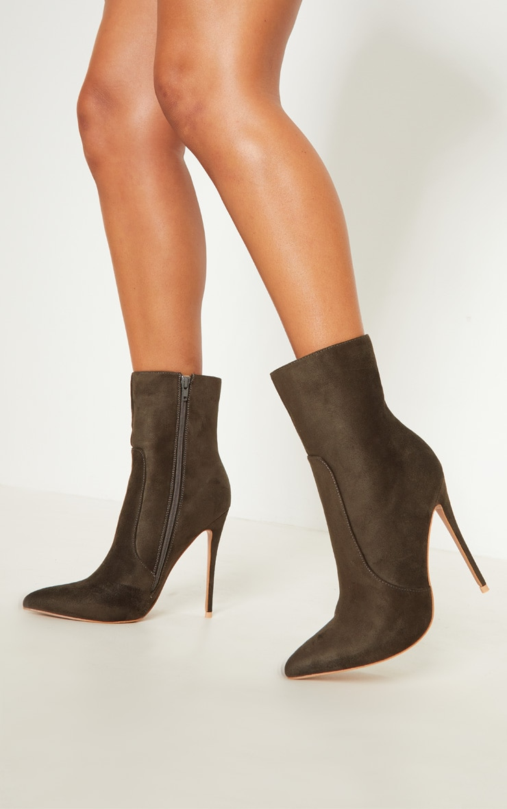 Khaki High Point Ankle Boot  2