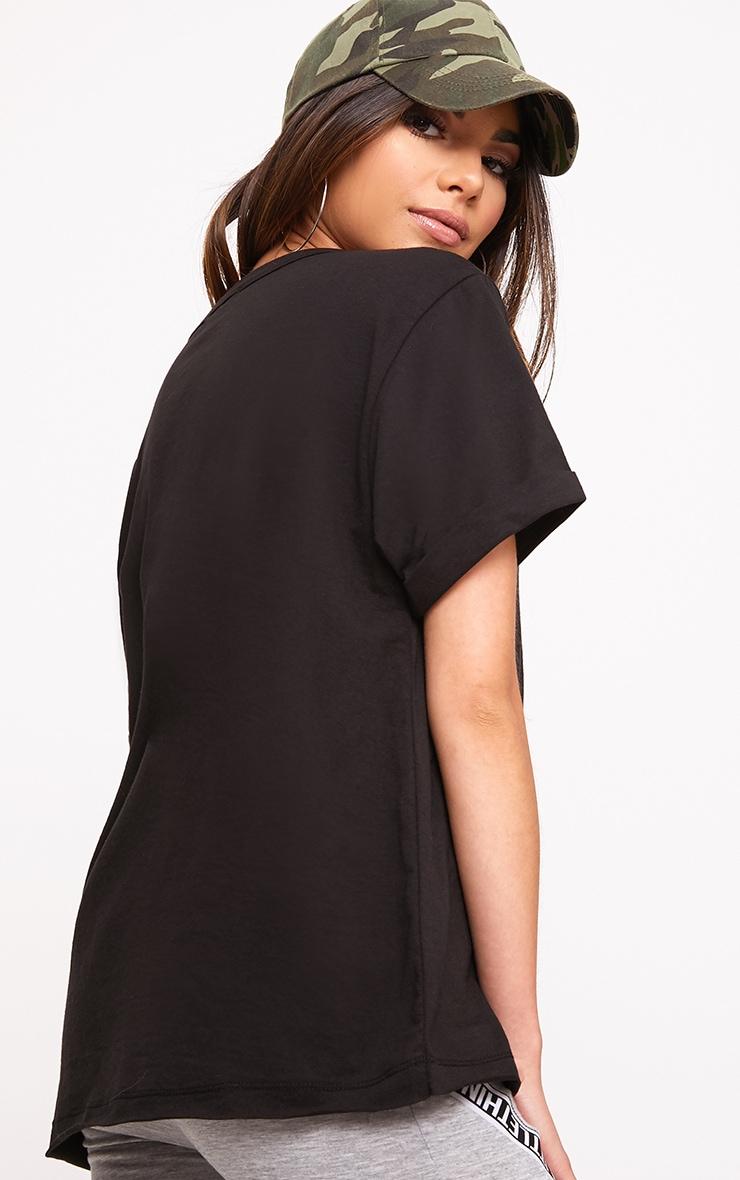 Theea Black Extreme Choker Rip Jersey T Shirt 2