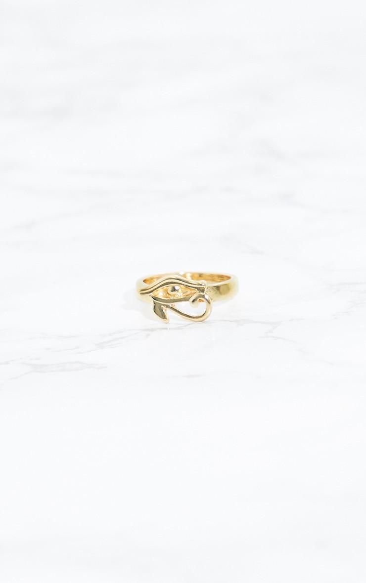 Gold Egyptian Eye Ring 3