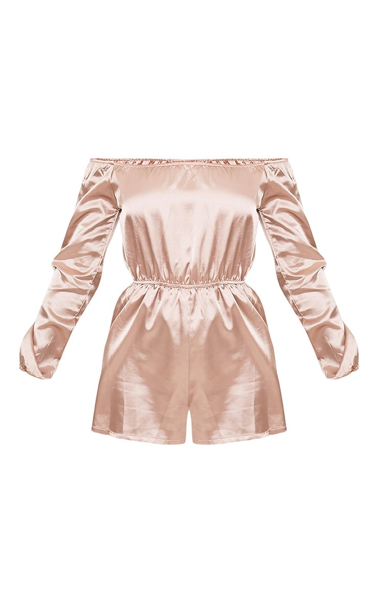 Reade Champagne Satin Bardot Playsuit 3