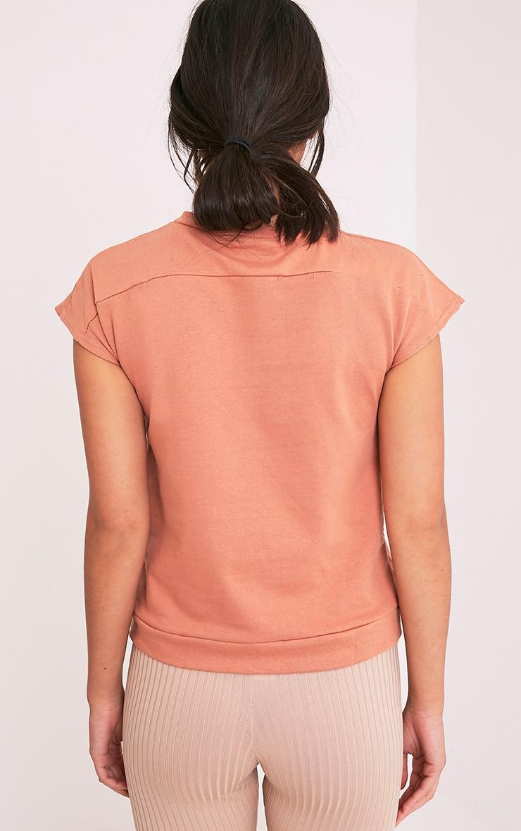 Adabel Deep Peach Boxy Highneck Sweater 2