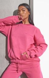 RENEW PRETTYLITTLETHING Pink Oversized Pocket Front Sweatshirt 1