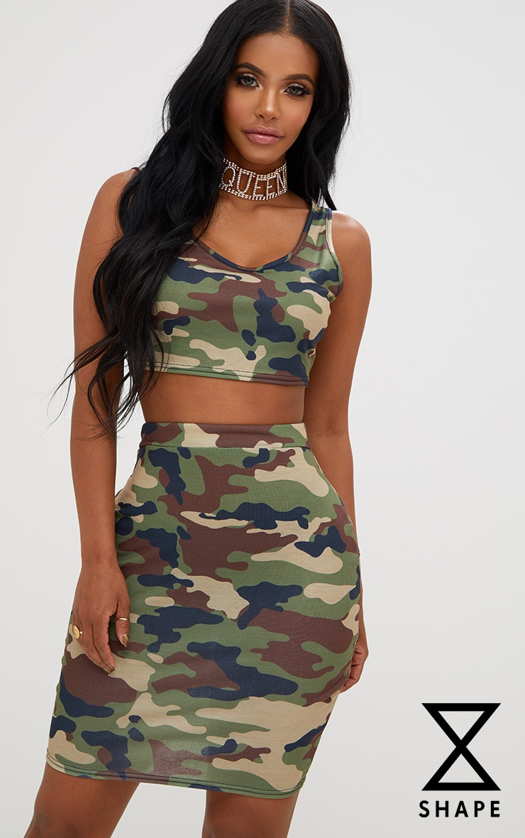 Shape Camo Crop Top 1