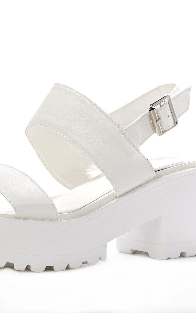 Lillian White Sling Back Sandals 4