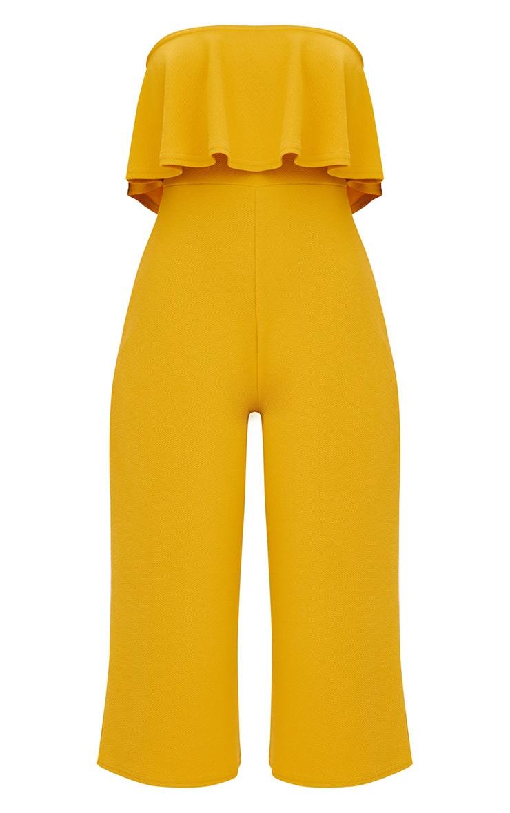 Mustard Bardot Double Layer Culotte Jumpsuit 3