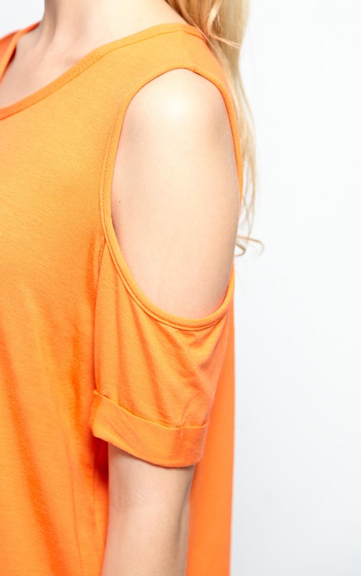 Mahlee Orange Cut Out Shoulder Top 6