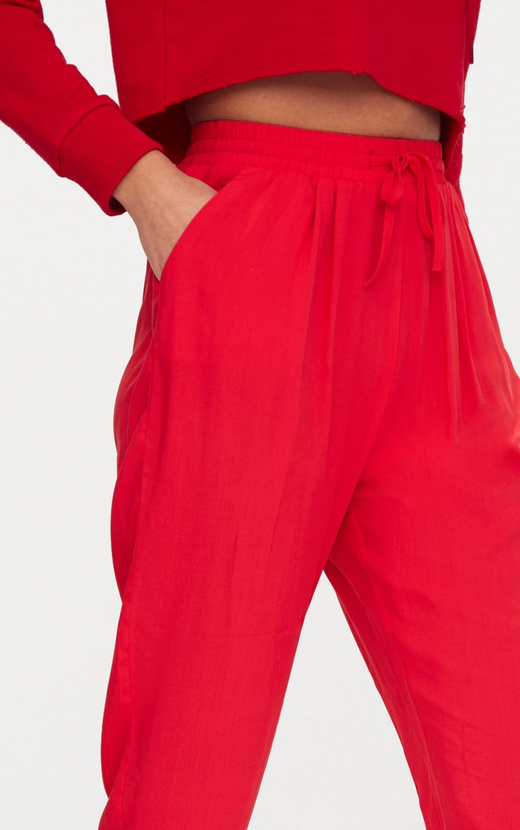 Red Casual Trousers 4