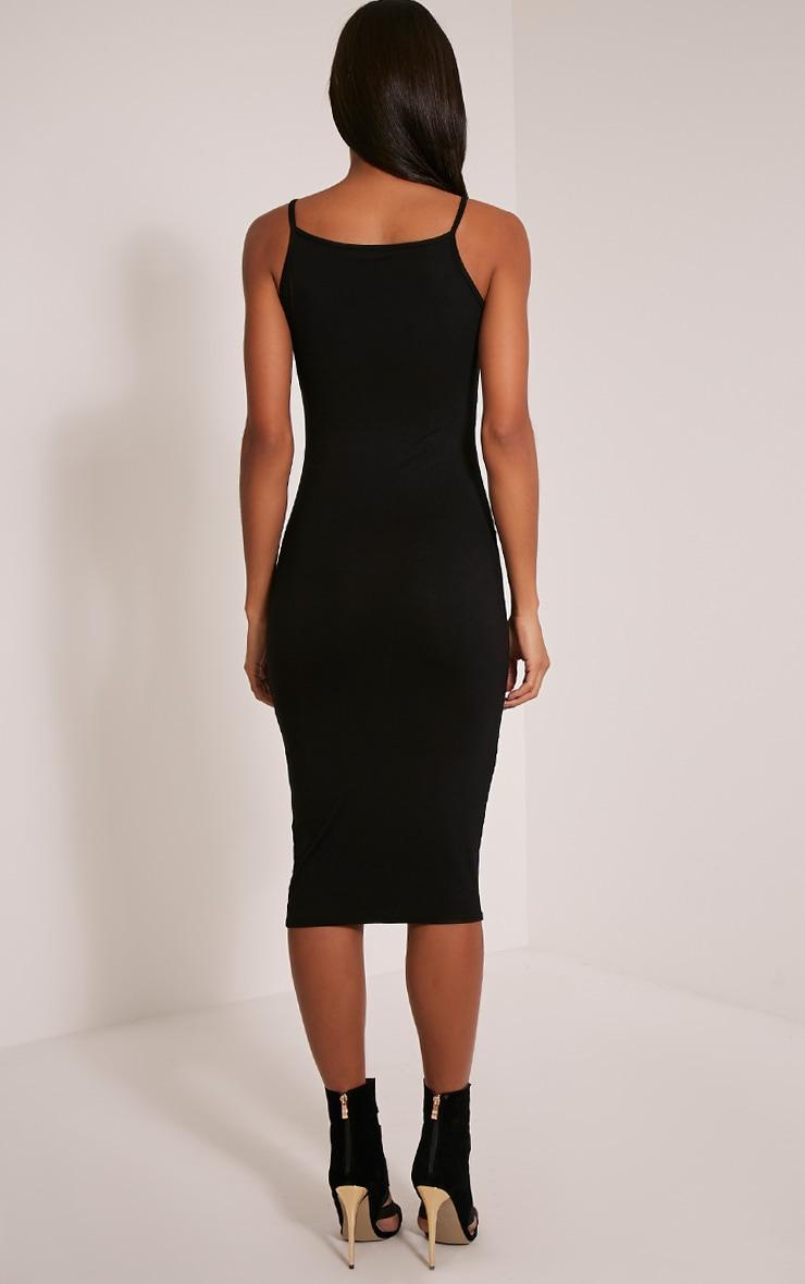 Basic robe midi à col nageur noire 2
