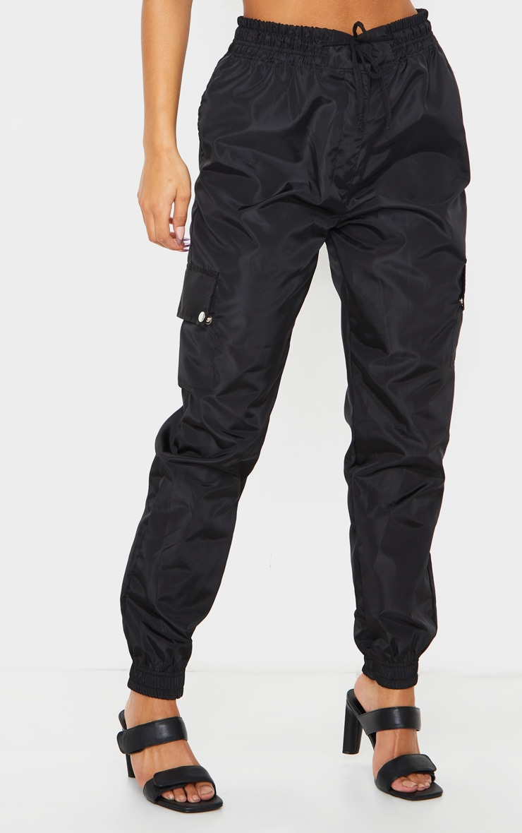 Black Shell Pocket Detail Cargo Trouser 2