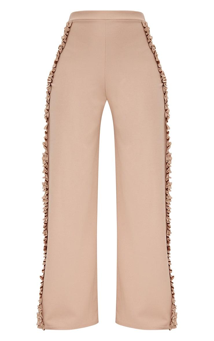 Stone Split Frill Seam Wide Leg Trousers 3