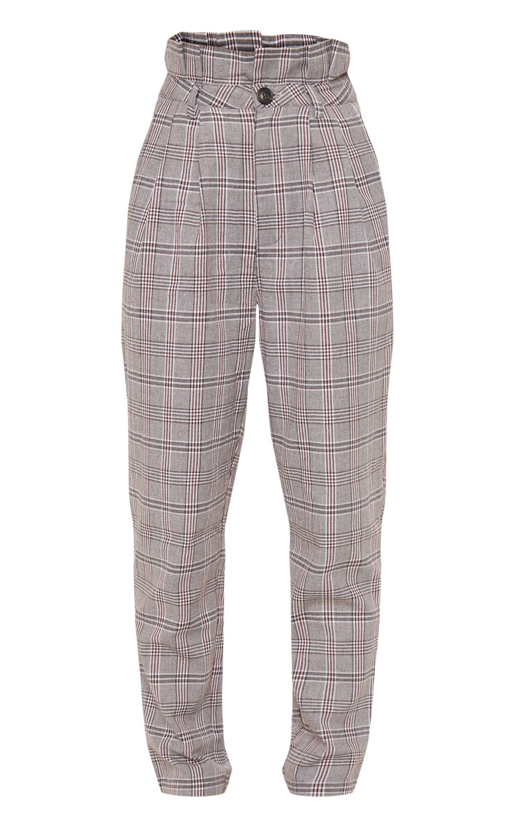 Chocolate Check Paperbag Trouser 3