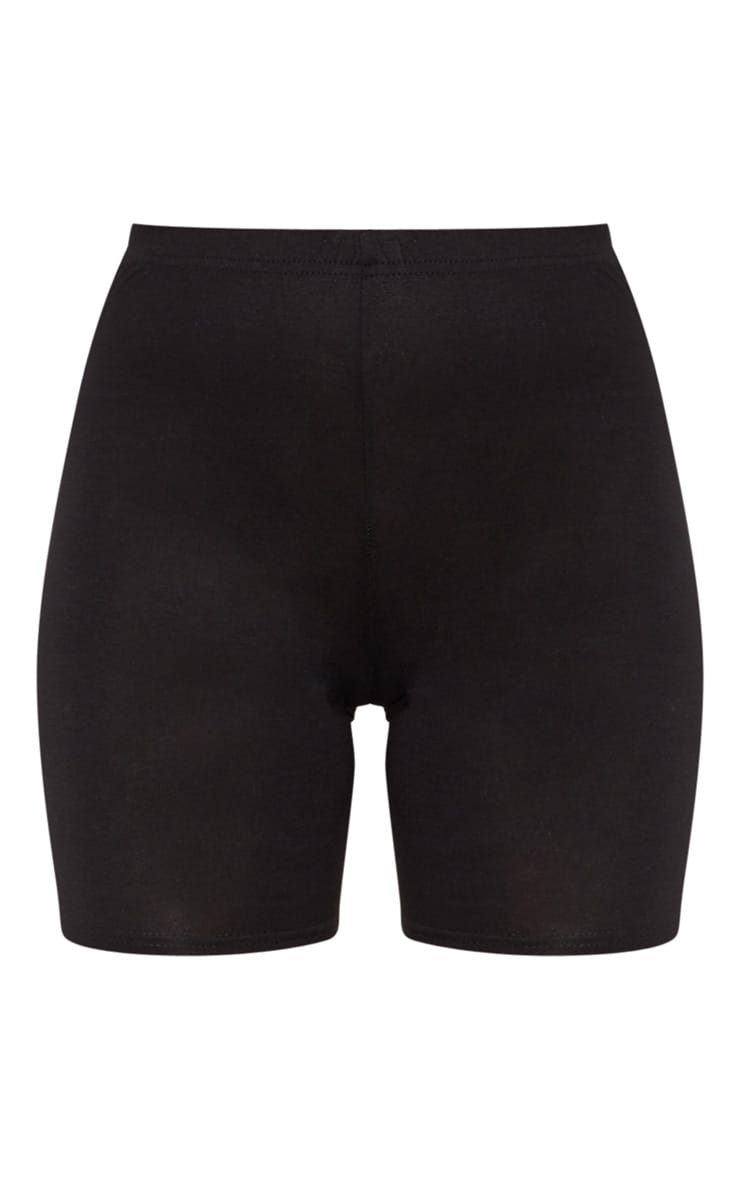 Black Double Side Stripe Bike Short  3