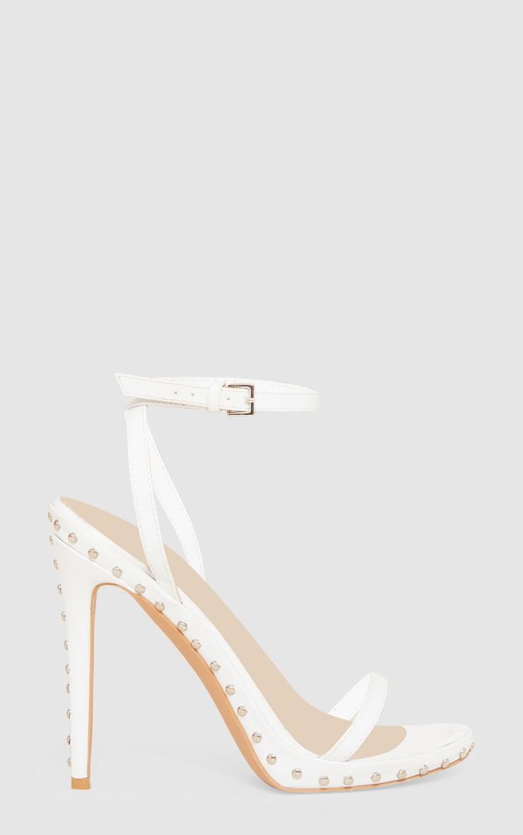White Studded Detail Strappy Sandal 3