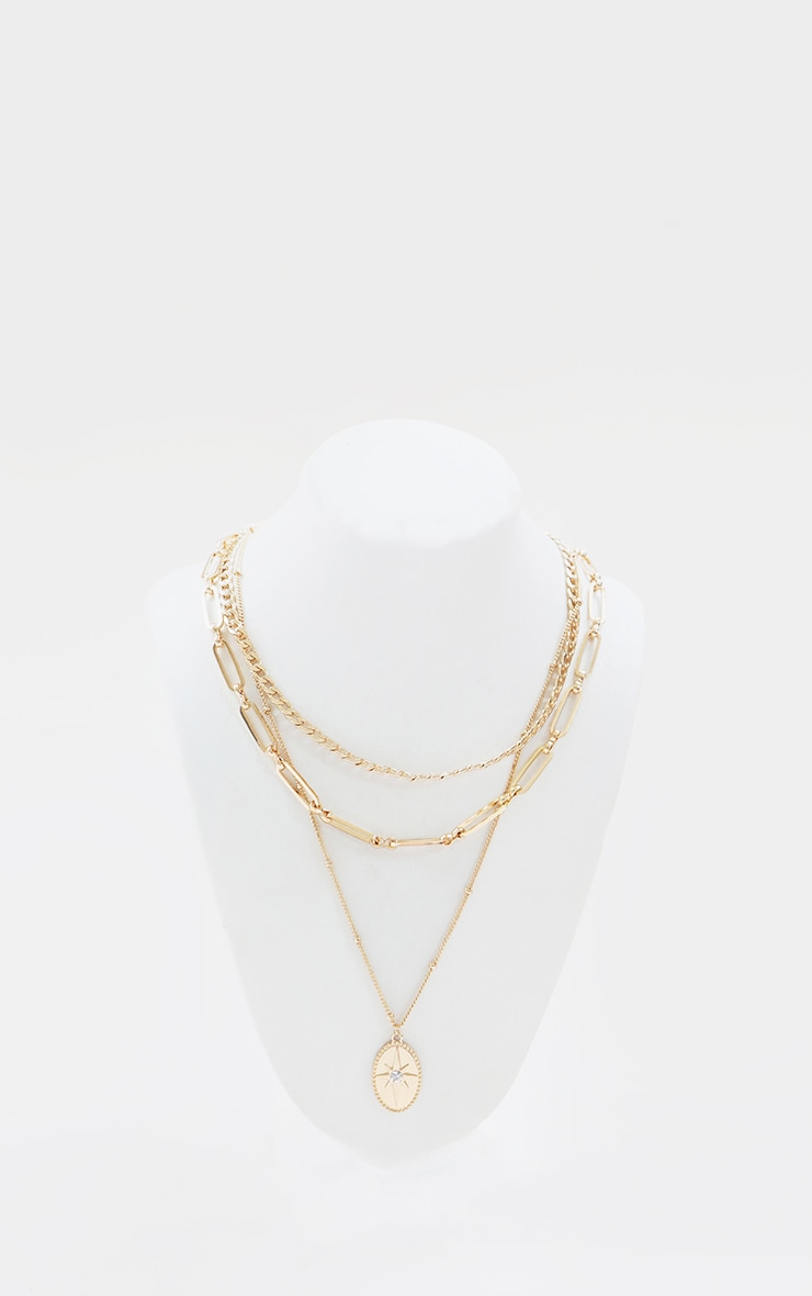 Gold Dainty Layering Chain Necklace 1