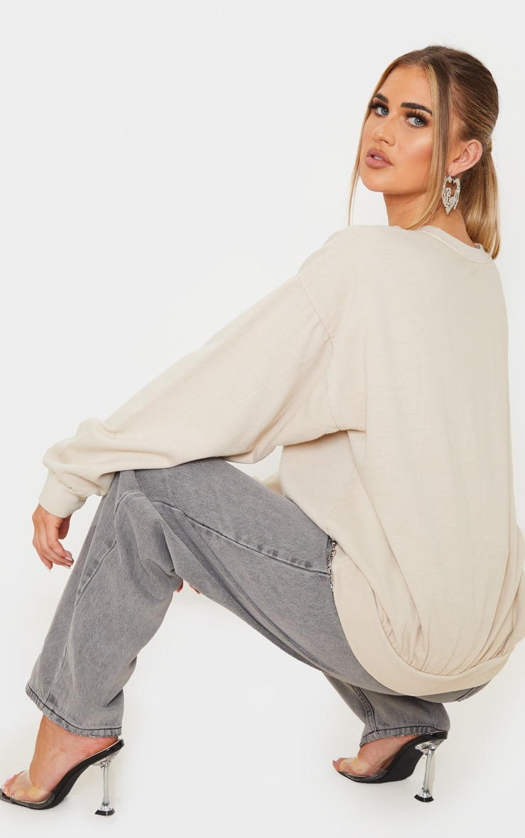Sand Dragon Print Washed Long Sleeve Sweater 2