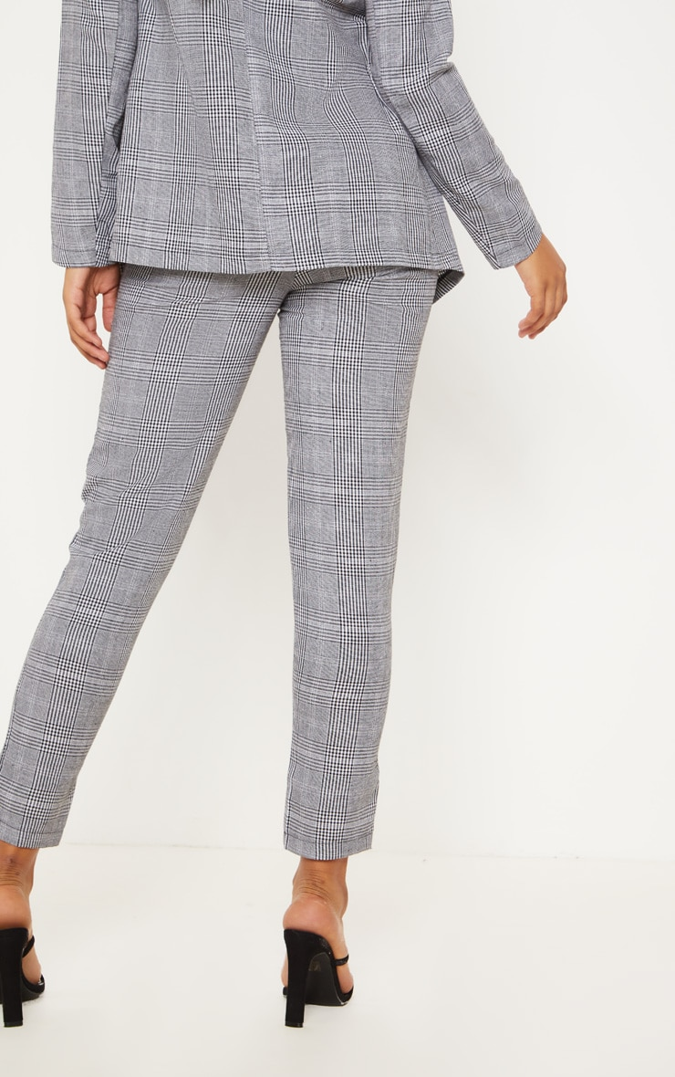 Tall Grey Checked Pants 4