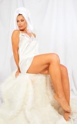Ivory Lace Trim Satin Nightie 3