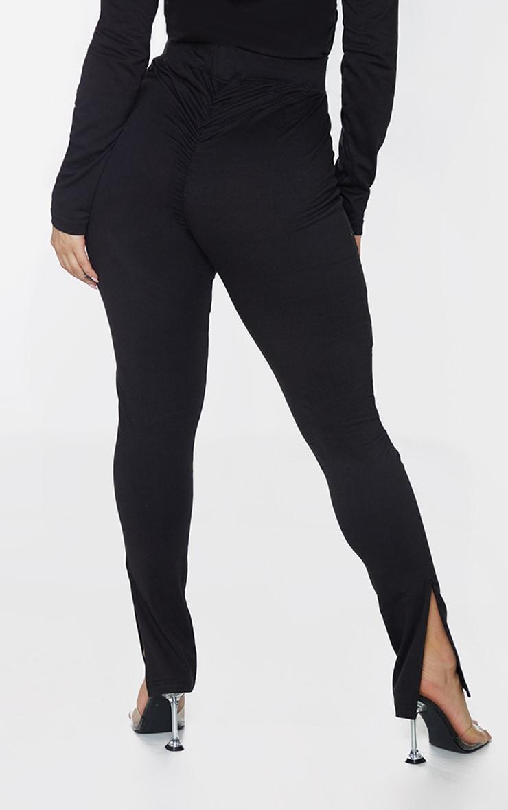 PRETTYLITTLETHING Shape Black New Season Ruched Bum Leggings 3