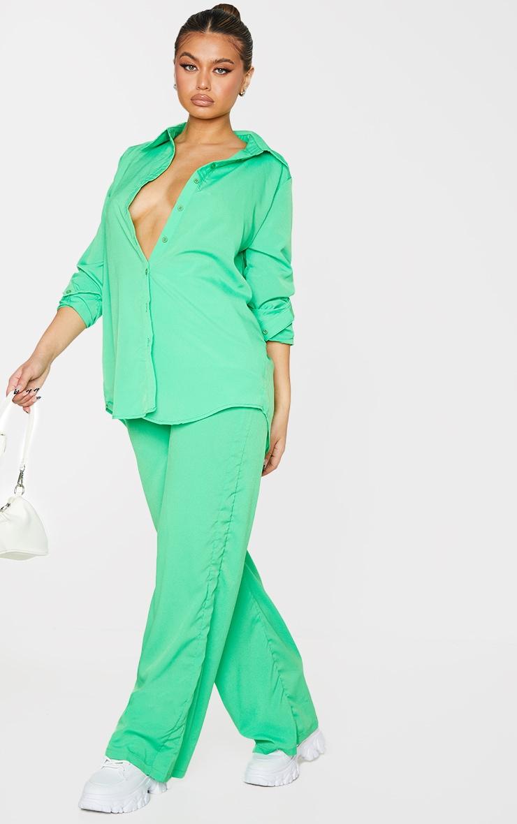 Bright Green Oversized Long Sleeve Shirt 3