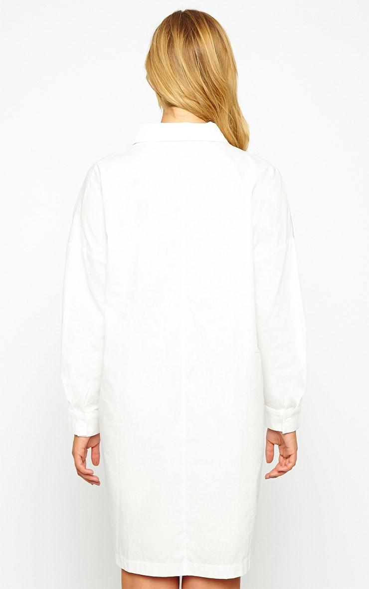 Carson White Shirt Dress 2
