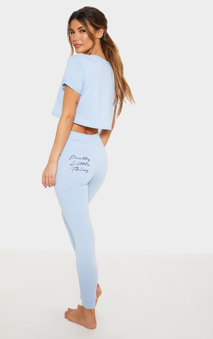 Baby Blue Short Sleeve Lounge Top 2