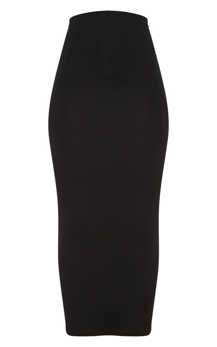 Black Basic Maxi Skirt 3