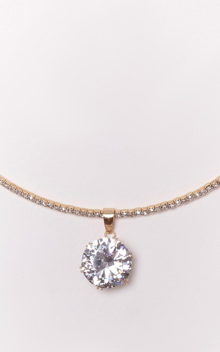 Trista Gold Diamante Drop Choker 5