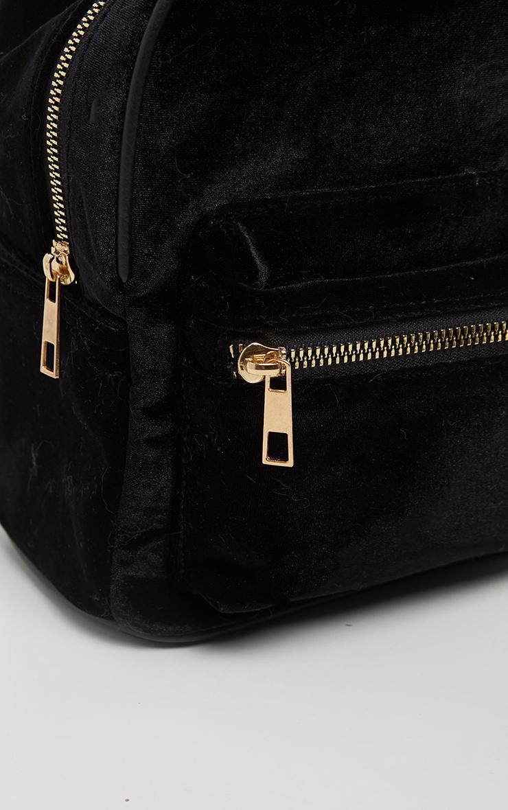 Black Velvet Mini Back Pack 4