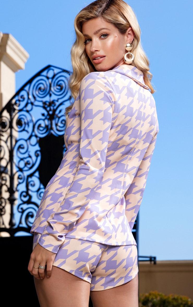 Lilac Print Blazer 2