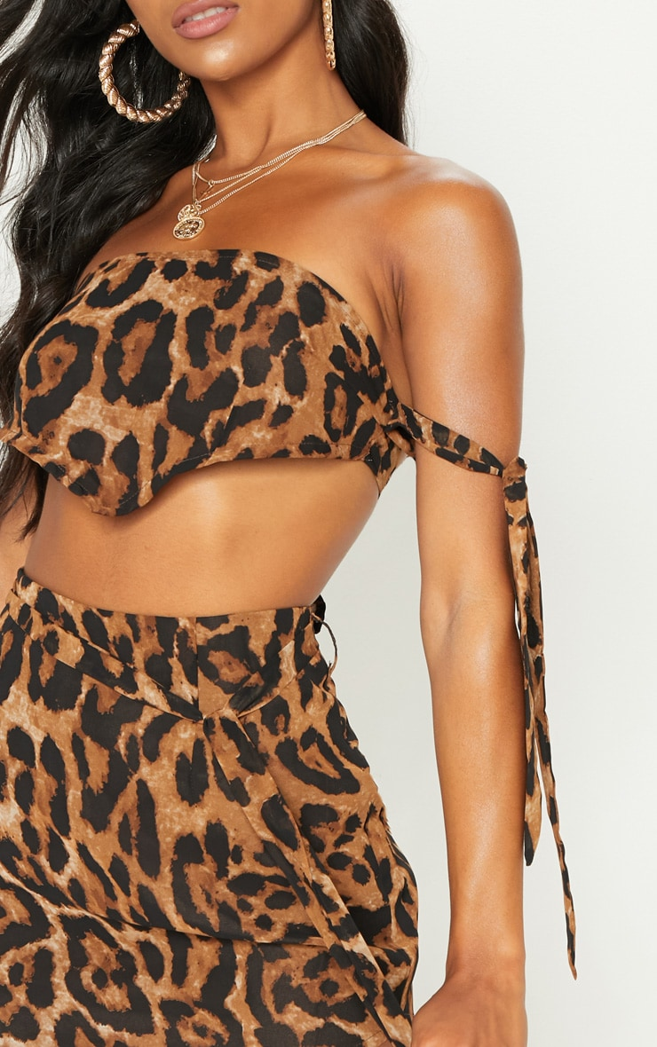 Tan Leopard Bandeau Handkerchief  Top 5